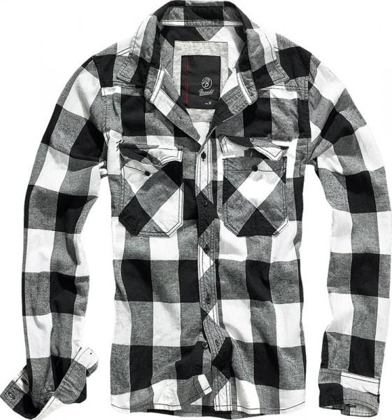 BRANDIT, Checkshirt, white/black / 4002