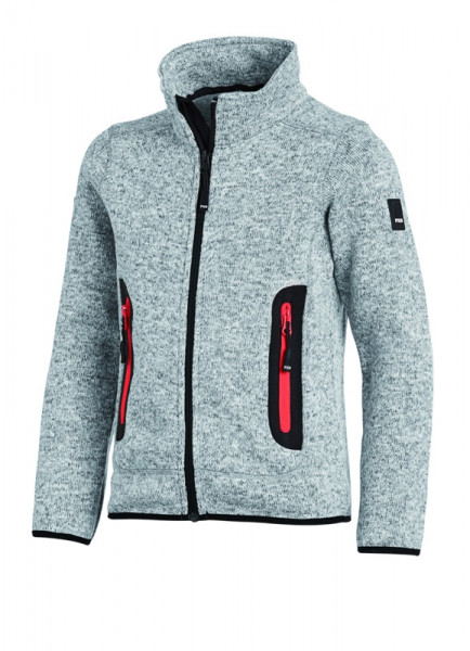 FHB MATS Strick-Fleece-Jacke Kinder , grau