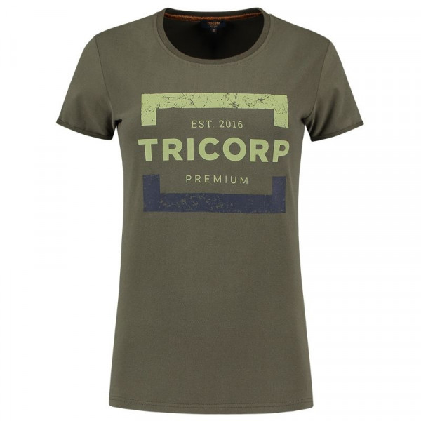 TRICORP, T-Shirt Premium Damen, Army, 104004