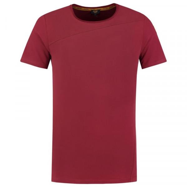 TRICORP, T-Shirt Premium Quernaht Herren, Bordeaux, 104002