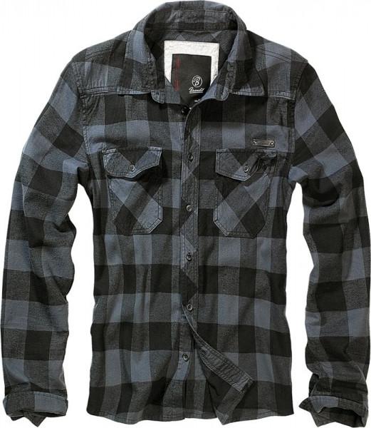 BRANDIT, Checkshirt, black/grey / 4002