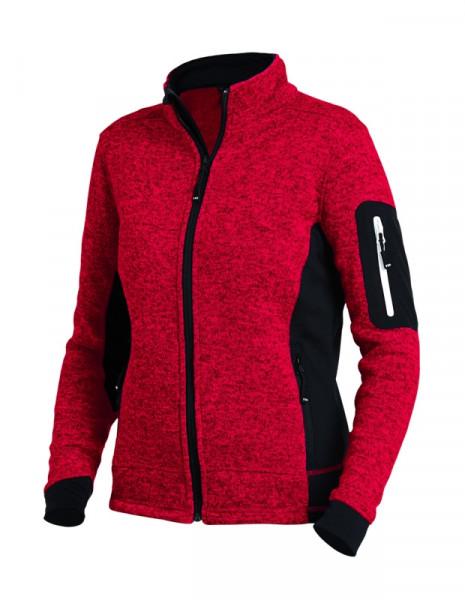 FHB MARIEKE Strick-Fleece-Jacke Damen, rot