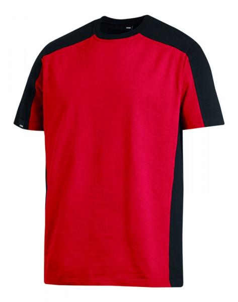 FHB MARC T-Shirt zweifarbig , rot-schwarz