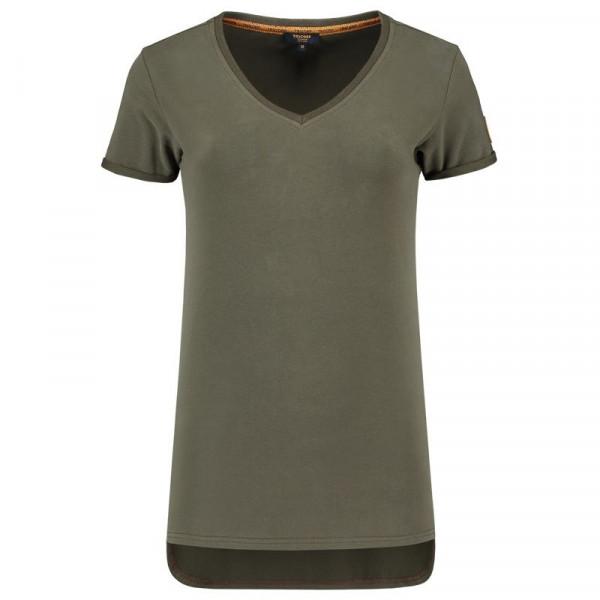 TRICORP, T-Shirt Premium V-Ausschnitt Damen, Army, 104006