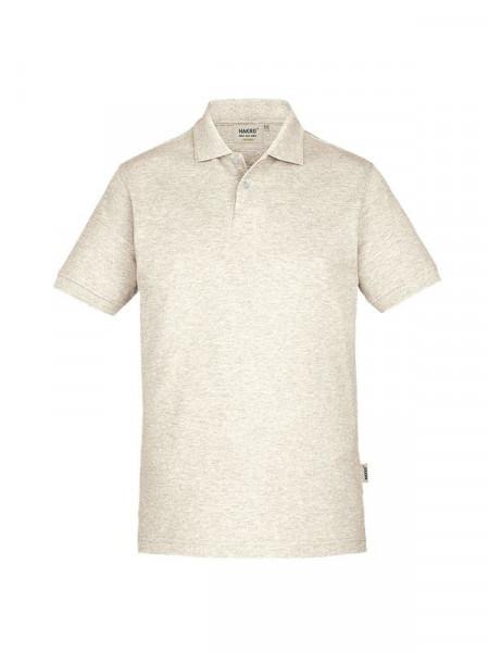 Hakro Poloshirt GOTS-Organic creme meliert 0831-331