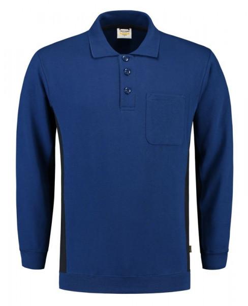 TRICORP, Sweatshirt Polokragen Bicolor Brusttasch, Royalnavy, 302001