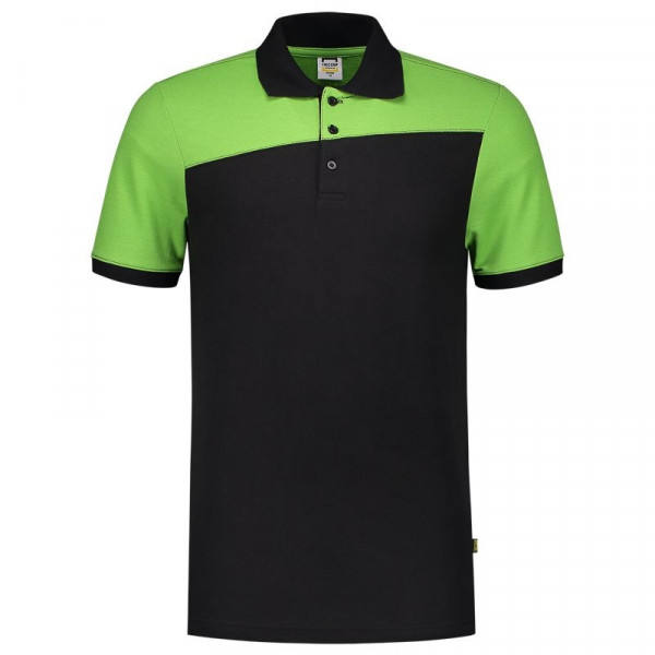 TRICORP, Poloshirt Bicolor mit Quernaht, Blacklime, 202006