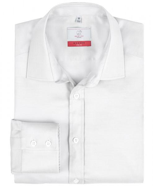 GREIFF Herren-Hemd 1/1 Slim Fit weiss Blusen/Hemden/Strick 6689.1770.90 6689 1770 Hemd