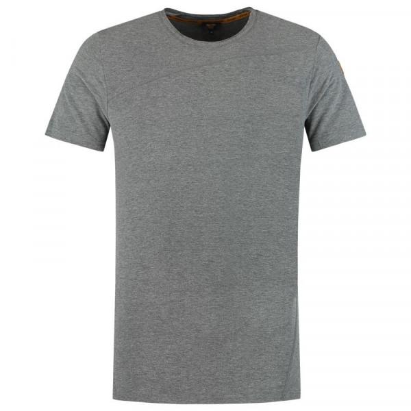 TRICORP, T-Shirt Premium Quernaht Herren, Stonemel, 104002