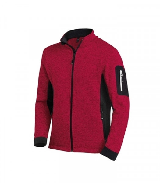 FHB CHRISTOPH Strick-Fleece-Jacke, rot