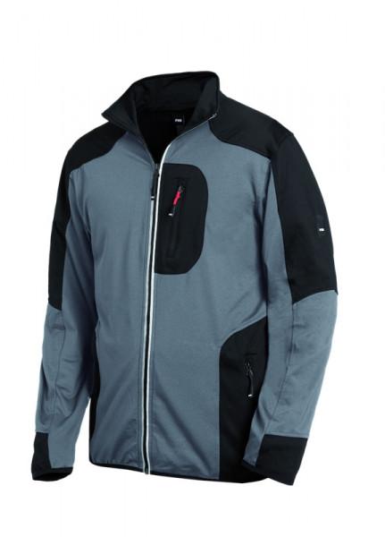 FHB RALF Jersey-Fleece-Jacke, grau-schwarz
