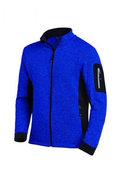 FHB CHRISTOPH Strick-Fleece-Jacke, royalblau