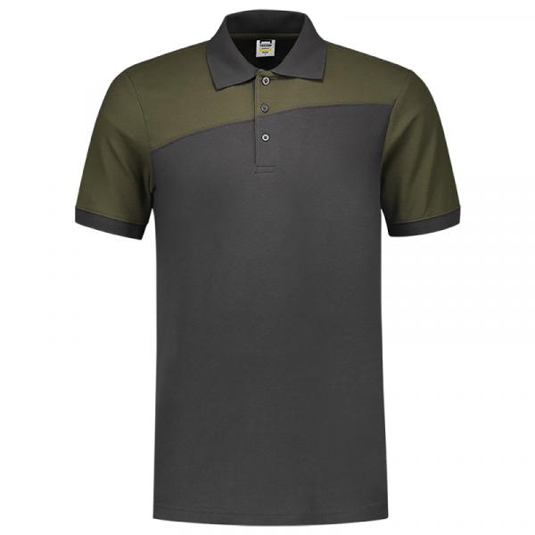 TRICORP, Poloshirt Bicolor mit Quernaht, DgreyArmy, 202006