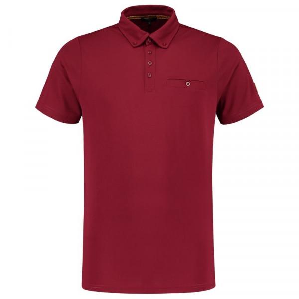TRICORP, Poloshirt Premium Button-Down-Kragen, Bordeaux, 204001