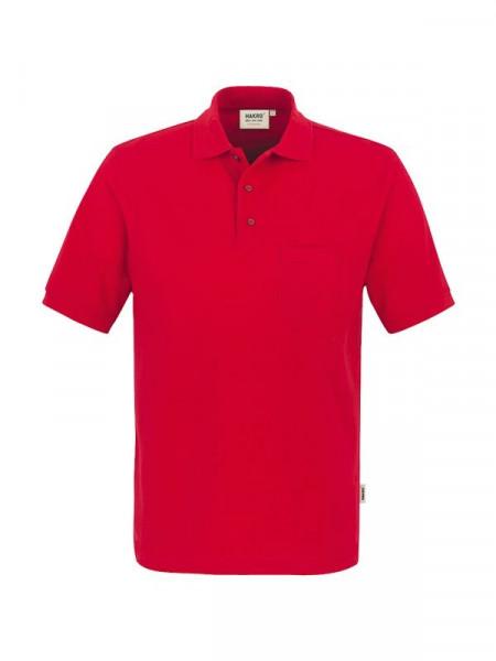 Hakro Pocket-Poloshirt Performance rot 0812-002
