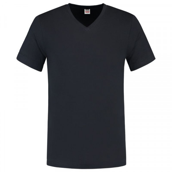 TRICORP, T-Shirt V-Ausschnitt Slim Fit, Navy, 101005