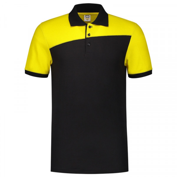 TRICORP, Poloshirt Bicolor mit Quernaht, BlackYello, 202006