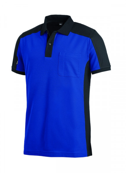 FHB KONRAD Polo-Shirt, royalblau-schwarz