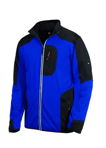 FHB RALF Jersey-Fleece-Jacke, royalblau-schwarz