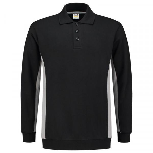 TRICORP, Sweatshirt Polokragen Bicolor, BlackGrey, 302003