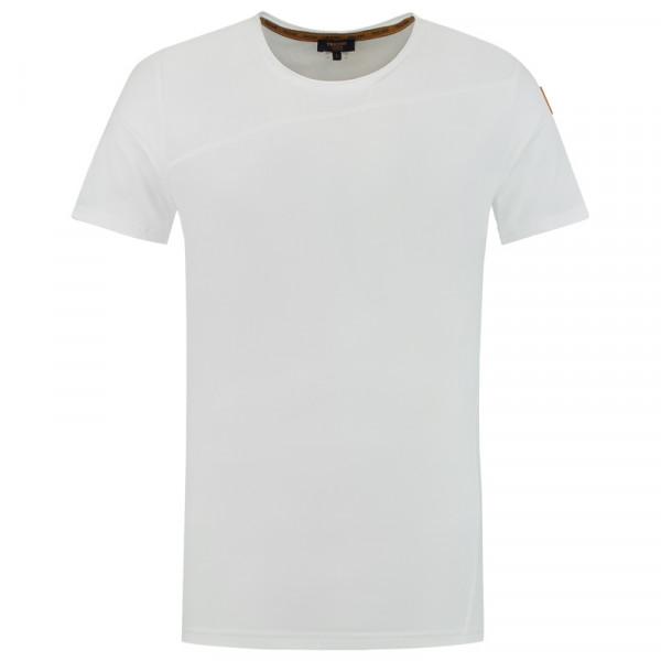 TRICORP, T-Shirt Premium Quernaht Herren, Brightwhit, 104002