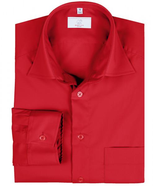 GREIFF Herren-Hemd 1/1 Regular F rot Blusen/Hemden/Strick 6665.1120.50 6665 1120 Hemd