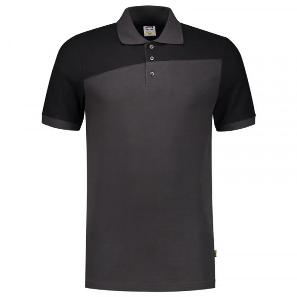 TRICORP, Poloshirt Bicolor mit Quernaht, DgreyBlack, 202006