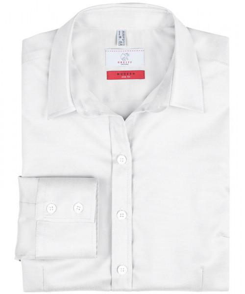 GREIFF Damen-Bluse 1/1 Slim Fit weiss Blusen/Hemden/Strick 6519.1770.90 6519 1770 Bluse