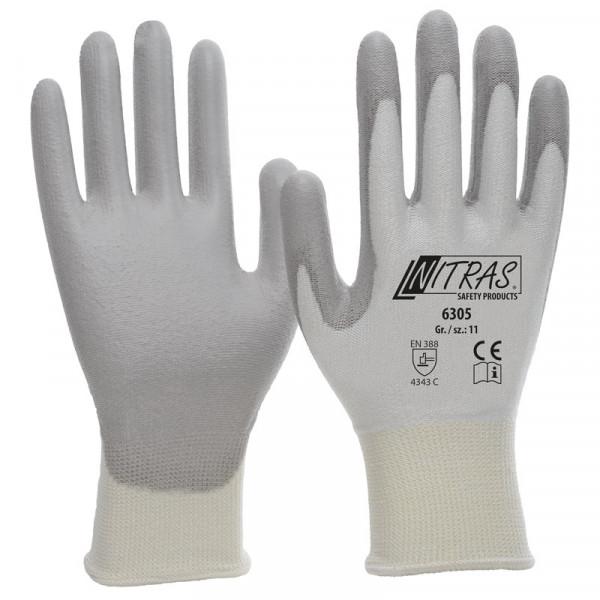 NITRAS Schnittschutzhandschuhe, weiß / 6305