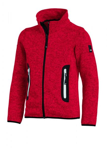 FHB MATS Strick-Fleece-Jacke Kinder , rot