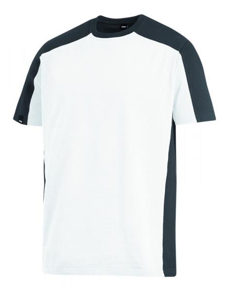 FHB MARC T-Shirt zweifarbig , weiß-anthrazit