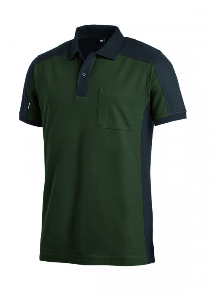 FHB KONRAD Polo-Shirt, oliv-schwarz