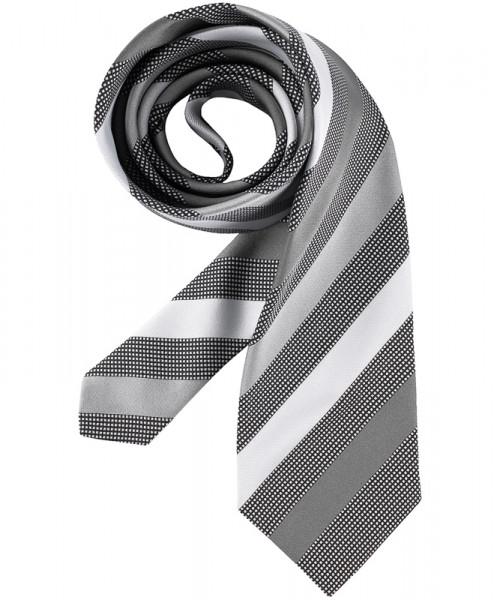 GREIFF Krawatte silbergrau gestreift Accessoires 6900.9700.718 6900 9700 Krawatte