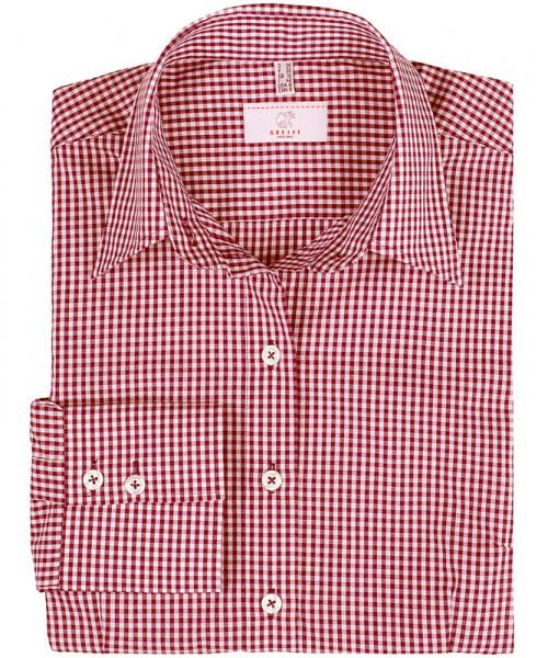 GREIFF, Damen-Bluse 1/1 Regular F/vichy karo rot A