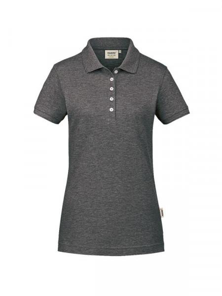 Hakro Damen-Poloshirt GOTS-Organic anthrazit meliert 0231-328