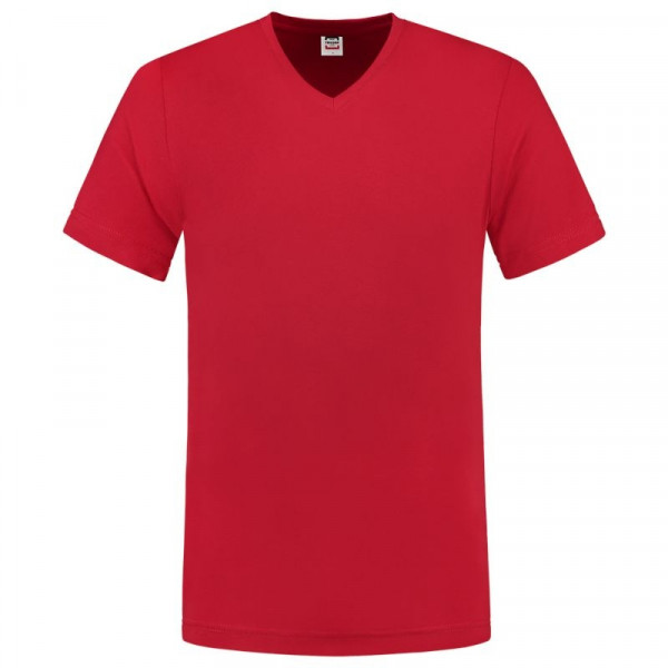 TRICORP, T-Shirt V-Ausschnitt Slim Fit, Red, 101005