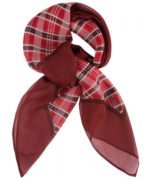 GREIFF Tuch bedruckt rot kariert Accessoires 6901.9920.651 6901 9920 Accessoires
