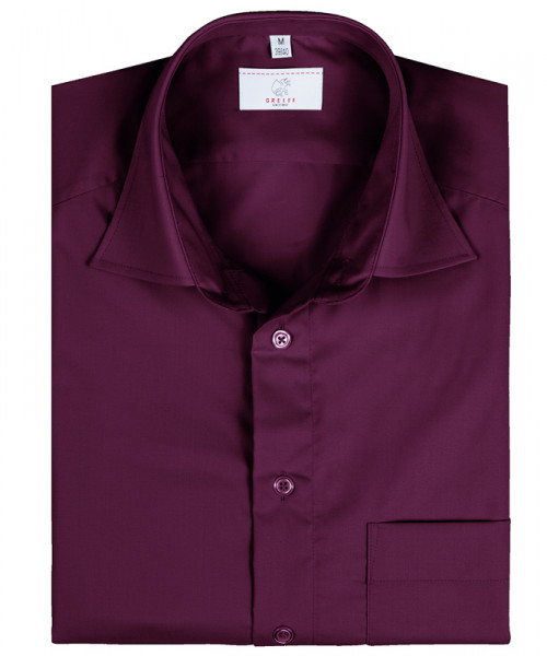 GREIFF Herren-Hemd 1/2 Regular F brombeere Blusen/Hemden/Strick 6666.1120.60 6666 1120 Hemd