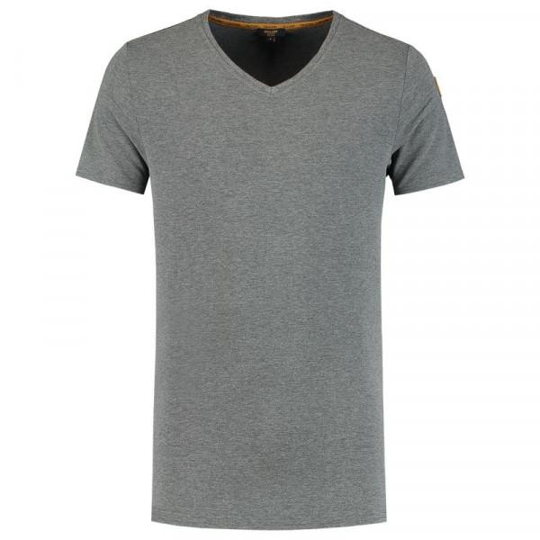 TRICORP, T-Shirt Premium V-Ausschnitt Herren, Stonemel, 104003