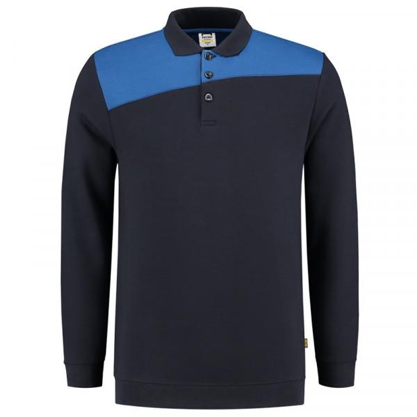 TRICORP, Sweatshirt Polokragen Bicolor Quernaht, Navyroyal, 302004