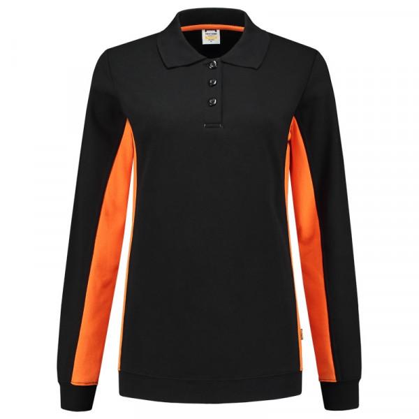 TRICORP, Sweatshirt Polokragen Bicolor Damen, Blackoran, 302002