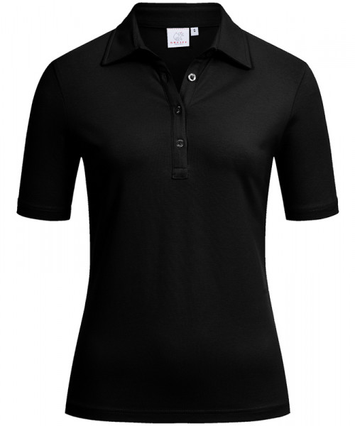 GREIFF, Damen-Polo Kurzarm/schwarz Art.Nr.6681.140