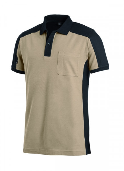 FHB KONRAD Polo-Shirt, beige-schwarz