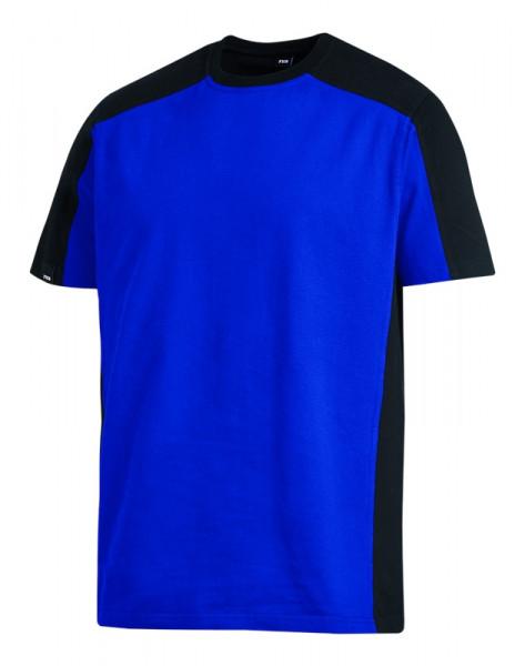 FHB MARC T-Shirt zweifarbig , royalblau-schwarz