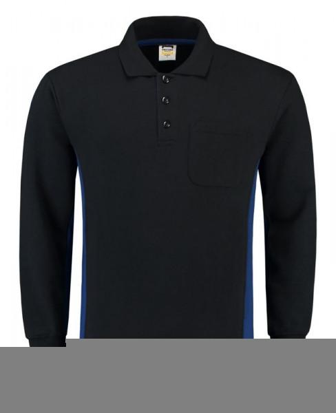 TRICORP, Sweatshirt Polokragen Bicolor Brusttasch, Navyroyal, 302001