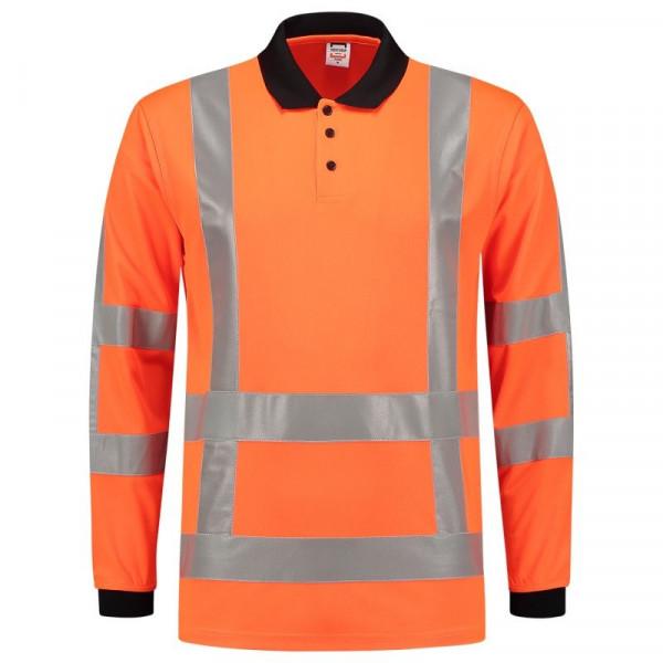 TRICORP, Poloshirt EN ISO 20471 Birdseye, Langarm, Orange, 203005