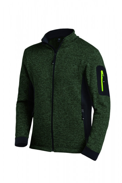 FHB CHRISTOPH Strick-Fleece-Jacke, oliv