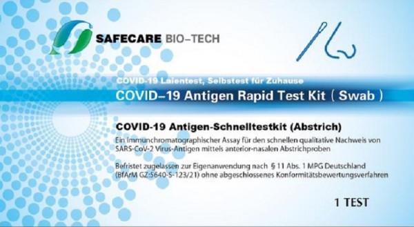 Safecare Antigen-Schnelltestkit – Abstrichtest