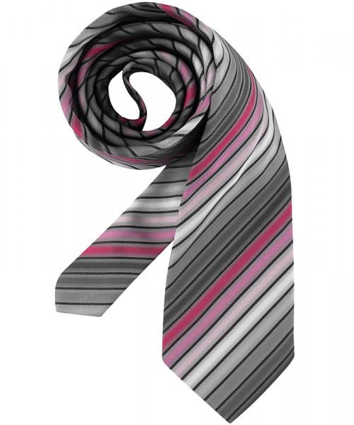 GREIFF Krawatte grau/rosé gestreift Accessoires 6900.9700.759 6900 9700 Krawatte