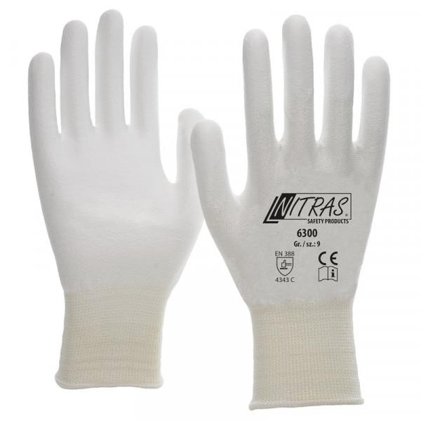 NITRAS Schnittschutzhandschuhe, weiß / 6300